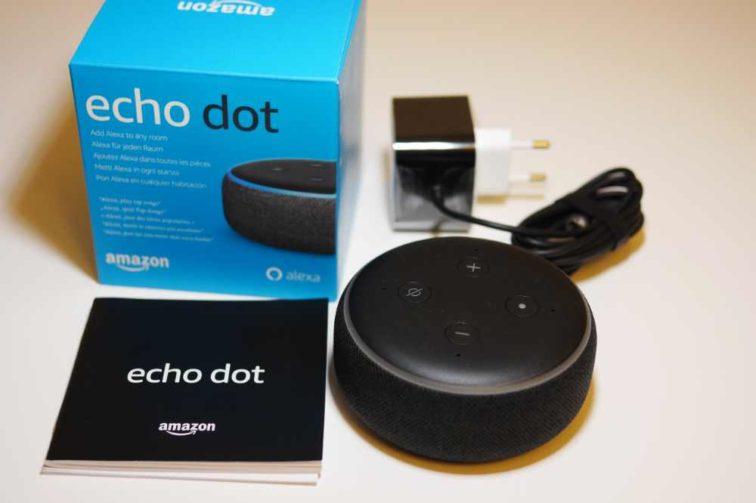 Amazon Echo Dot 3 Lieferumfang